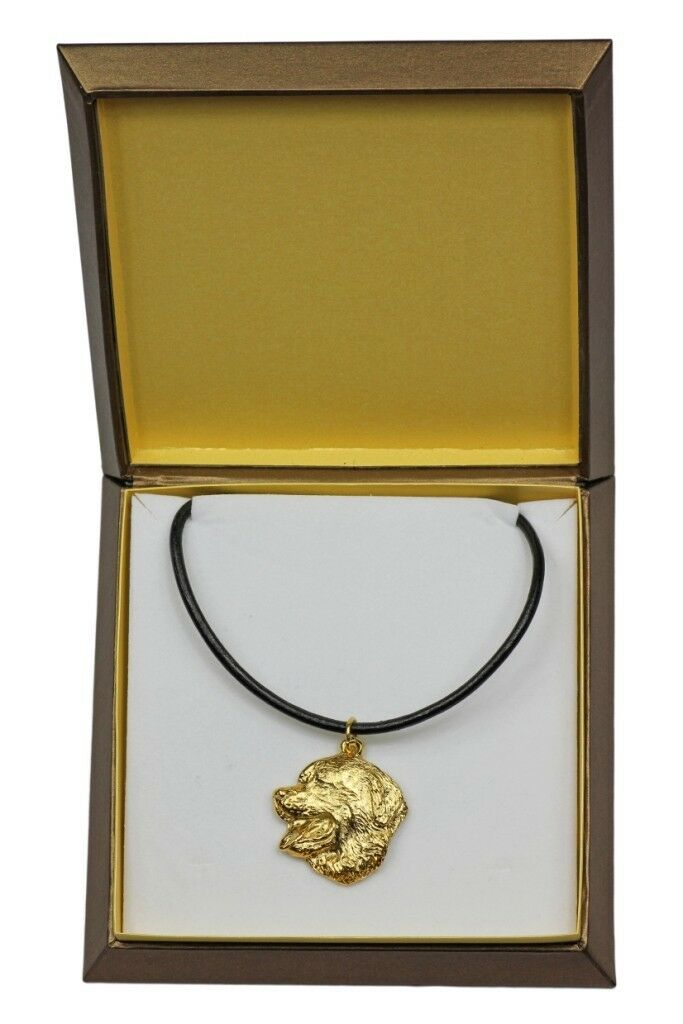 negozio outlet Bernese Mountain - oro oro oro covered necklace with dog in box, high quality Art Dog  distribuzione globale