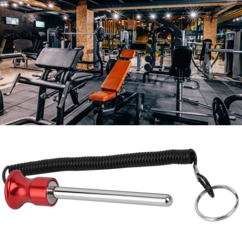 Magnetic Weight Stack Pin with Pull Rope Strength Training Equipment Access Red❤