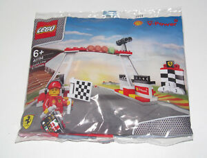Lego-Set-Complet-Polybag-Shell-Team-Racing-Finish-Line-amp-Podium-40194-NEW