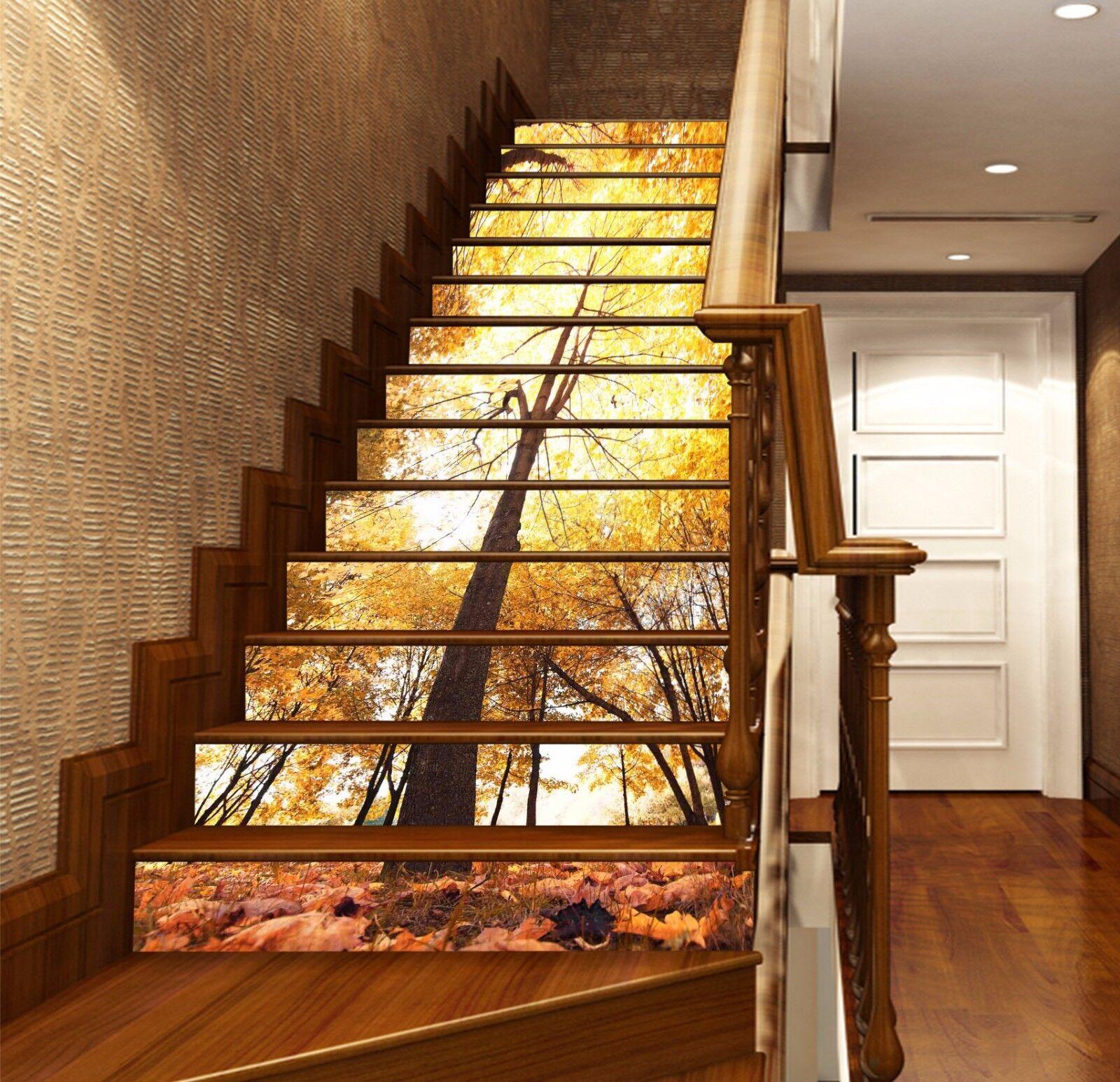 3D árbol De Otoño 740 verticales tarjetas verticales 740 Decoración Mural Foto escalera Vinilo Calcomanía Papel Tapiz au 514f1b