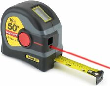 General Tools 2 In 1 Laser Tape Distance Measure 50 Ft And 16 Ft Tape Measure