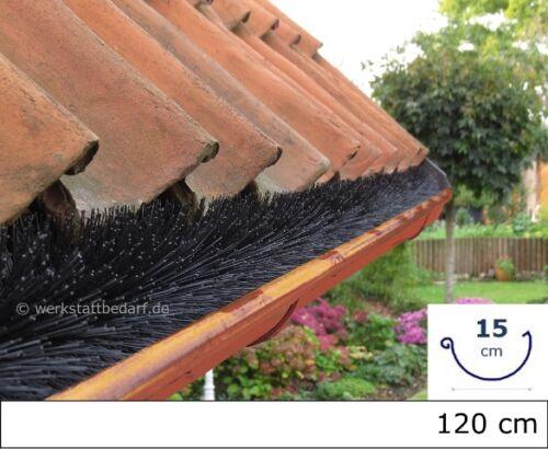 4x Dachrinnenbürste für Kupferdachrinnen Ø15cm 120cm Laubschutz Marder Raupe