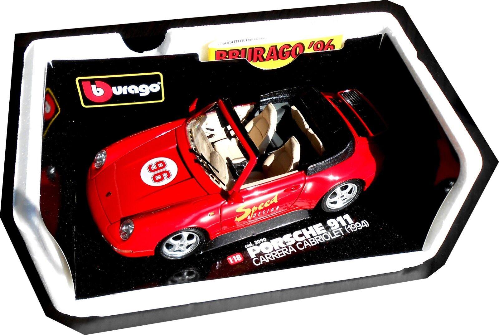 BBURAGO 3090 Porsche 993 Carrera Cabrio  Speed&Design ; 1 18, mb