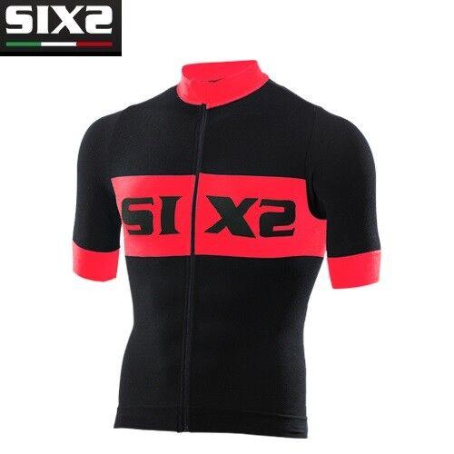 Jersey T-Shirts kurze Ärmel Fahrrad Jersey Fahrrad SIXS SIXS Fahrrad schwarz rot BIKE3 luxus 313d62