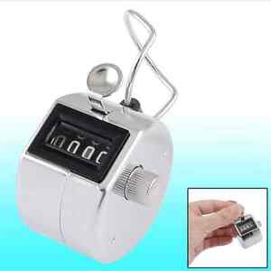 Steel-Tally-Counter-Hand-Held-Clicker-4-Digit-Chrome-Palm-Golf-People-Counting-X