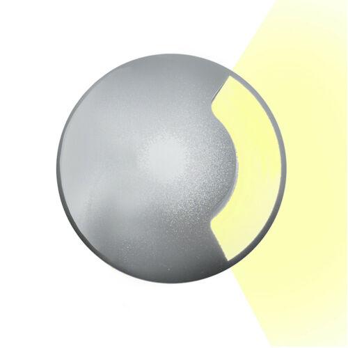 Faretto segnapassi incasso pavimento LED 3W calpestabile radente 1 finestra IP65
