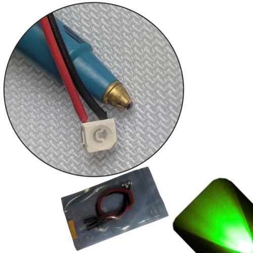 10 x 12v PLCC2 3528 1210 Pure Green SMD LED PreWired LED 9v-18v Prewired Ultra