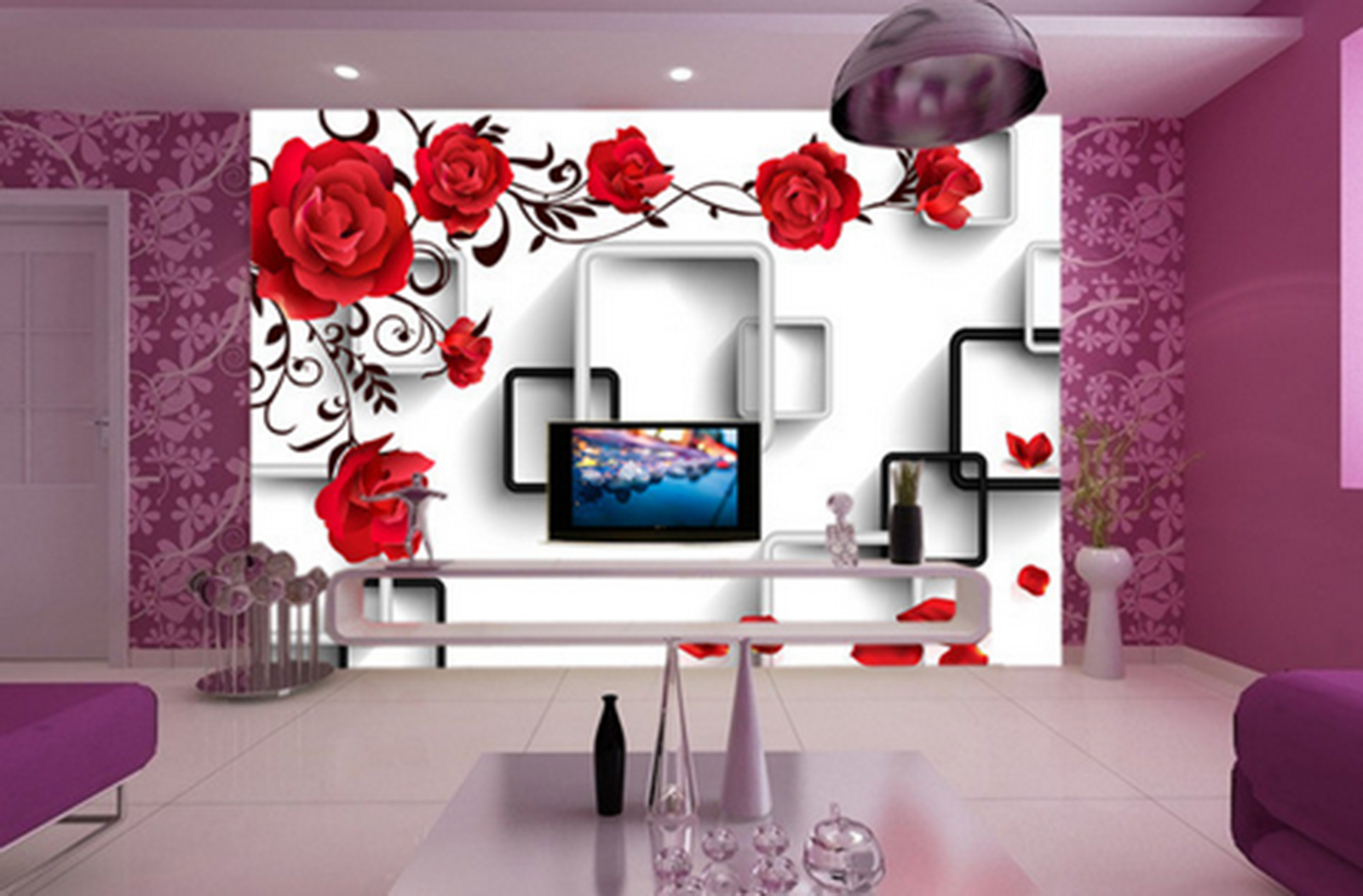 3D Flowers Rose ROT Vines 46 Paper Wall Print Wall Decal Wall Deco Indoor Murals