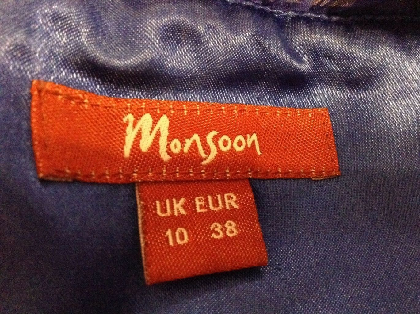 Monsoon coloreE BLU DRESS-Taglia 10 10 10 UK Euro 38 97e7f5