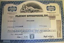 PLAYBOY COMMON STOCK CERTIFICATE for the Graduate or Father's Day?  YES!!!
