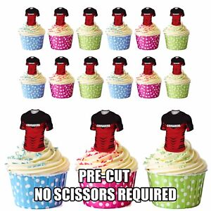 Image Is Loading PRECUT The Crusaders Rugby Shirts Edible Cupcake Toppers
