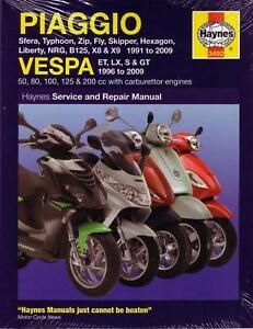 haynes repair manual piaggio typhoon zip fly hexagon liberty nrg x8 rh ebay com manual mantenimiento piaggio x8 200 manual de taller piaggio x8 200
