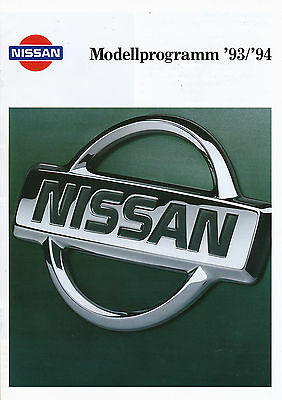 Erfinderisch Nissan Prospekt 1993 1994 100 Nx 200 Sx Maxima Terrano Ii Patrol Sunny Urvan Pkw