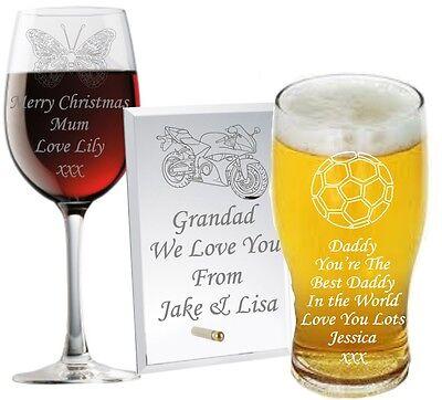 Personalised Glass Christmas Gifts Daddy Grandad Dad Grampie Grandpa Granda