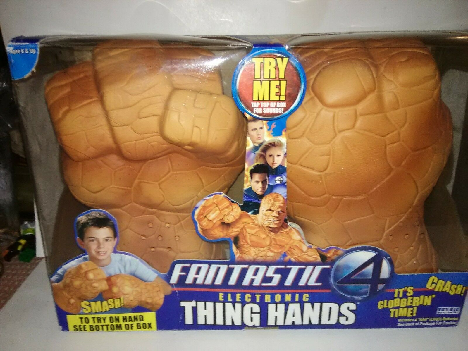 Marvel Fantastic Four 4 The Thing Foam Smash Fist 2004 Toy Biz