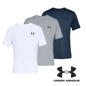 UNDER-ARMOUR-T-Shirt-Mens-UA-Sportstyle-Left-Chest-Short-Sleeved-Tee-Top