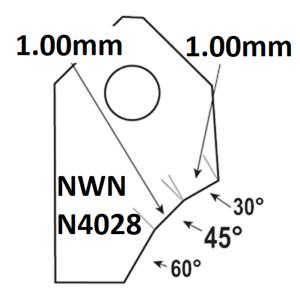 45°-1.50mm.Valve seat cutting carbide tip bit,SERDI NEWEN ROTTLER SUNNEN GOODSON