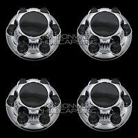 4 Chevy Gmc 1500 6 Lug 16 & 17 Chrome Wheel Center Hub Caps Rim Nut Covers