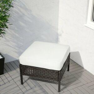 Panche Di Legno Ikea.Cuscino Da Esterno Giardino Bianco Ikea Bancale Panca Pallet Ebay