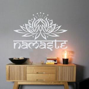 Namaste Wall Decal Lotus Flower Yoga Decor Buddha Quote Wall Art