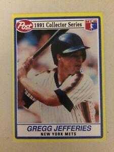1991 Post Cereal Gregg Jefferies Baseball Card 9 Of 30 New