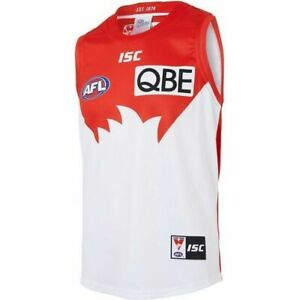 Sydney-Swans-AFL-2018-Home-ISC-Guernsey-Adults-Kids-amp-Toddler-Sizes-In-Stock