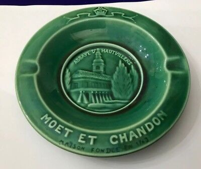 Breweriana, Beer Ashtrays Vtg Moet Et Chandon Champagne Circular Ash Tray Ashtray Abbaye D'hautvilliers To Win Warm Praise From Customers