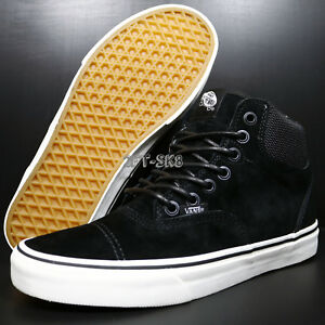 5593104940 VANS ERA-HI PIG SUEDE NYLON BLACK BLANC DE BLANC MEN S SKATE SHOES ...