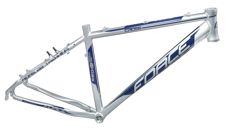 Force Midas Trekking Cross Marco de Aluminio 38cm, 44cm, 51cm Plata Azul Brillo