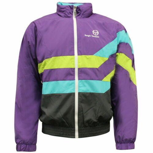 Sergio Tacchini 90s Zip Up Mens Track Top Jacket Purple 37867 766 EE126