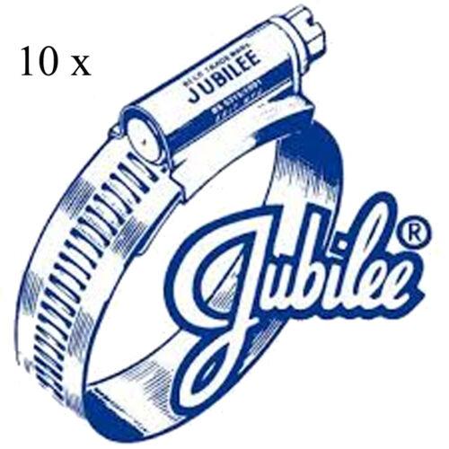 10 X Véritable Jubilee M00 11 mm 16 mm en acier doux Zinc Plaqué Colliers