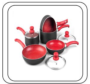 8PC-Rouge-Antiadhesif-Induction-Stone-Pan-Set-Casserole-Poele-Pot-Cookware