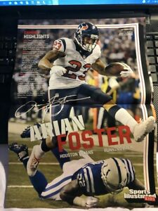 8aab8230 Details about 2015 Sports Illustrated Si Kids football poster ARIAN FOSTER  Houston Texans