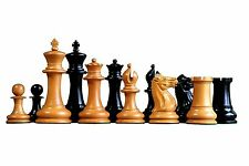 EX DISPLAY Official Staunton 1851 Staunton Antiqued Ebony Chessmen