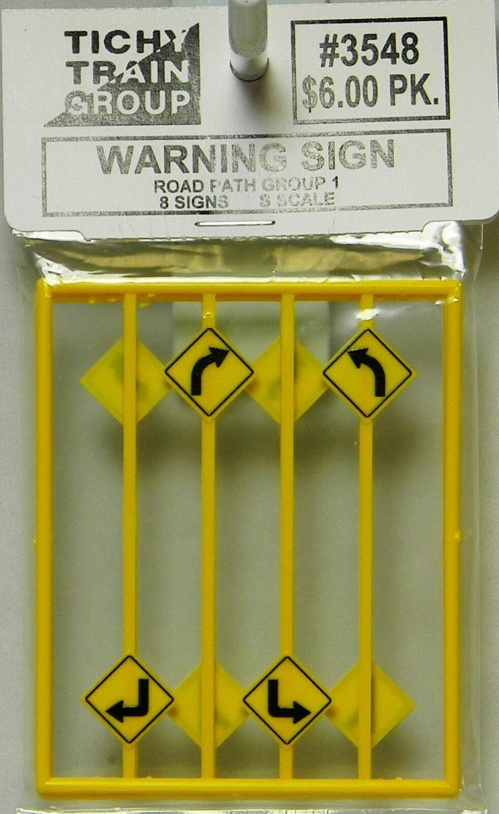 NIB S Tichy 3548 3548 3548 Warning Sign Road Path Group Pcs 430eee