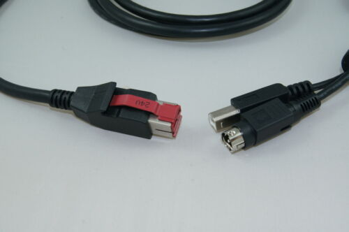 24V Cavo USB alimentata Epos Dei Dati Cavo 3m Hosiden /& USB B IBM o Cyberdata