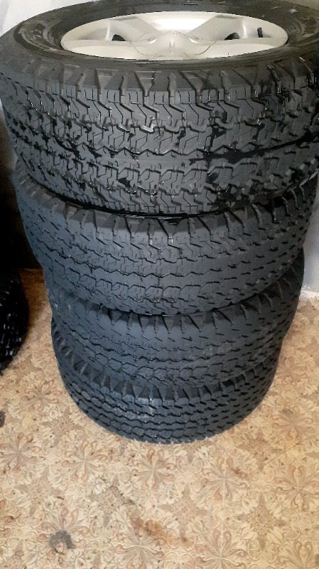 Fairly used tyre and rims