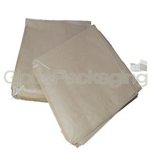 "100 x BROWN FLAT KRAFT PAPER FOOD BAGS - 10"" x 10"" 5055502316727"