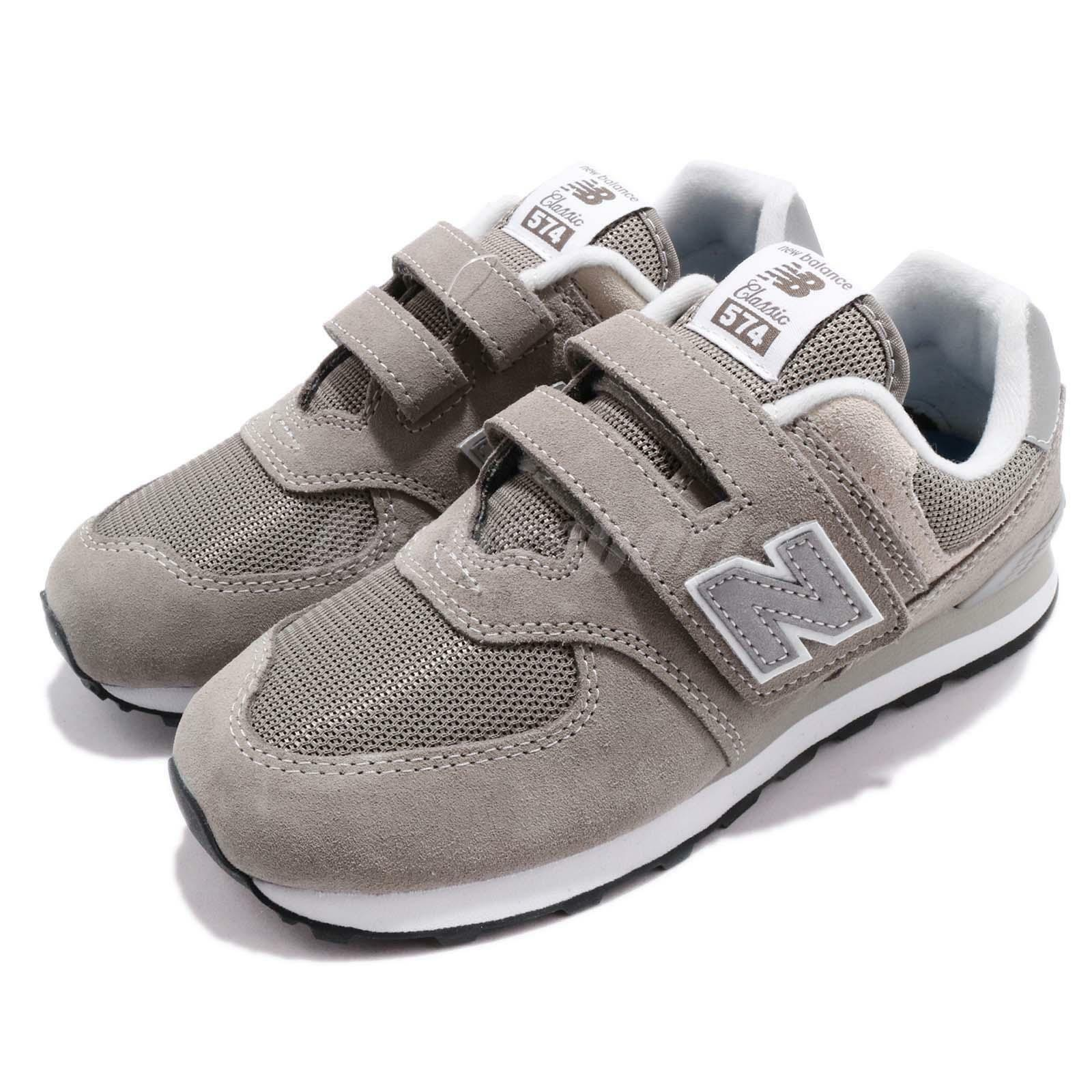 New Balance YV574GG W Wide 574  Gris  blanc Kids Youth Running  Chaussures  YV574GGW