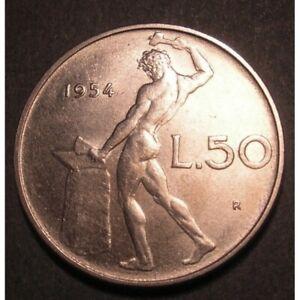 REPUBBLICA-ITALIANA-50-Lire-1954-al-2001-FDC-UNC-PROOF