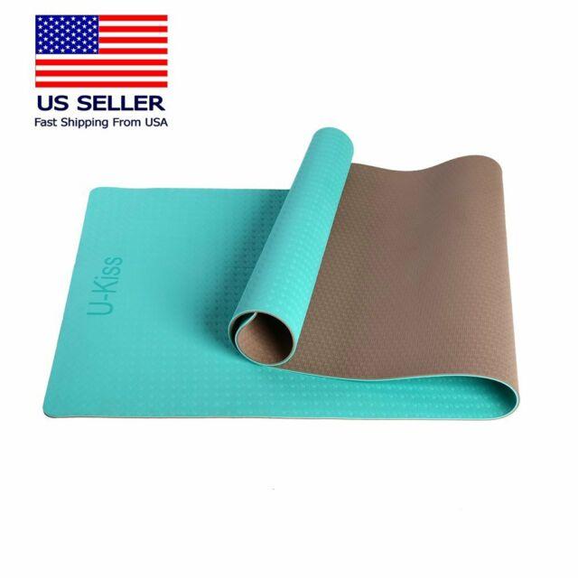 Premium Eco Friendly Tpe Non Slip Yoga Mat 72 X 28 Pilates Exercise Fitness
