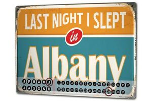 Calendario-perpetuo-Retro-Wall-Art-Metropole-Albany-USA-Metal-Imantado