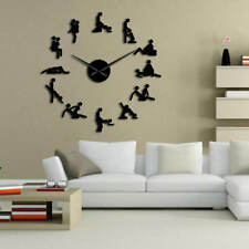 Sex Position DIY Giant Large Wall Clock Frameless Decor Adult Home Decoration