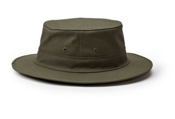 Filson Cappello Unisex Original Tin Cloth Hat - - Hat Dry Otter Grün Hat 57532a