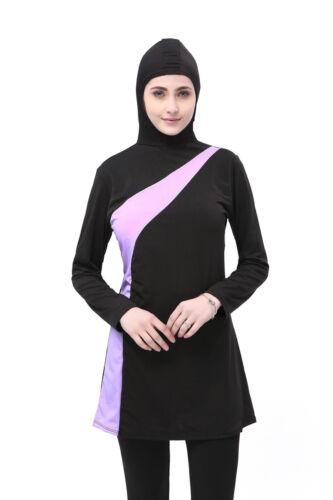 Muslim Women Swimwear Islamic Full Cover Beachwear Swimsuit Swimming Costume Set