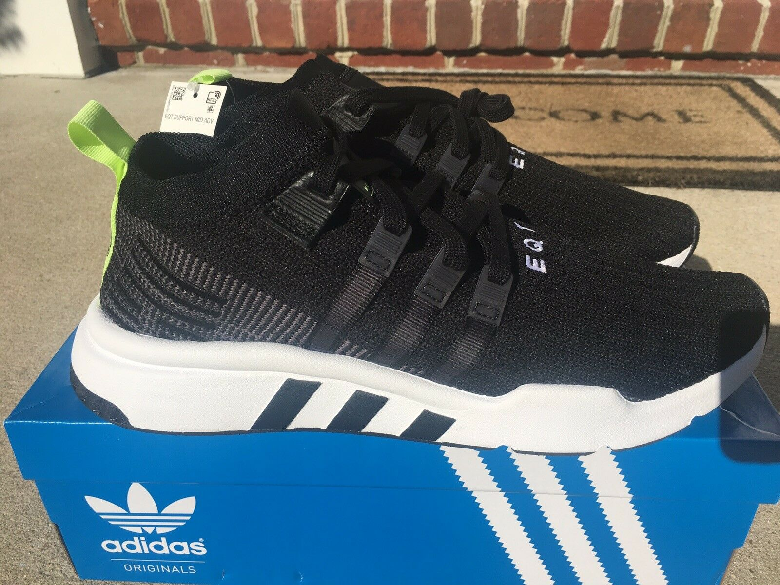 Adidas Originals EQT Support Mid ADV PK Boost Primeknit Black Men B37435 sz 13i