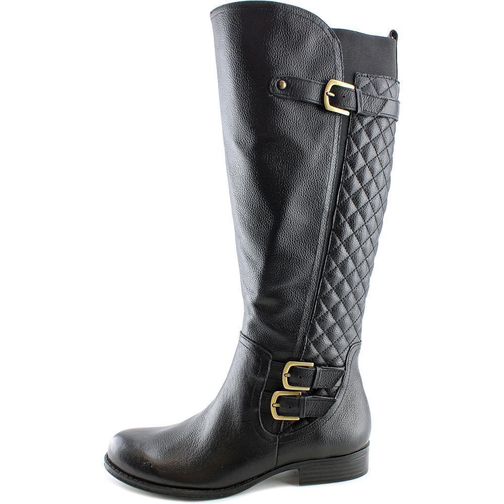 NEU199Naturalizer Jamon Wide Calf Damens  Round Toe Leder Knee High Boot SZ:8M