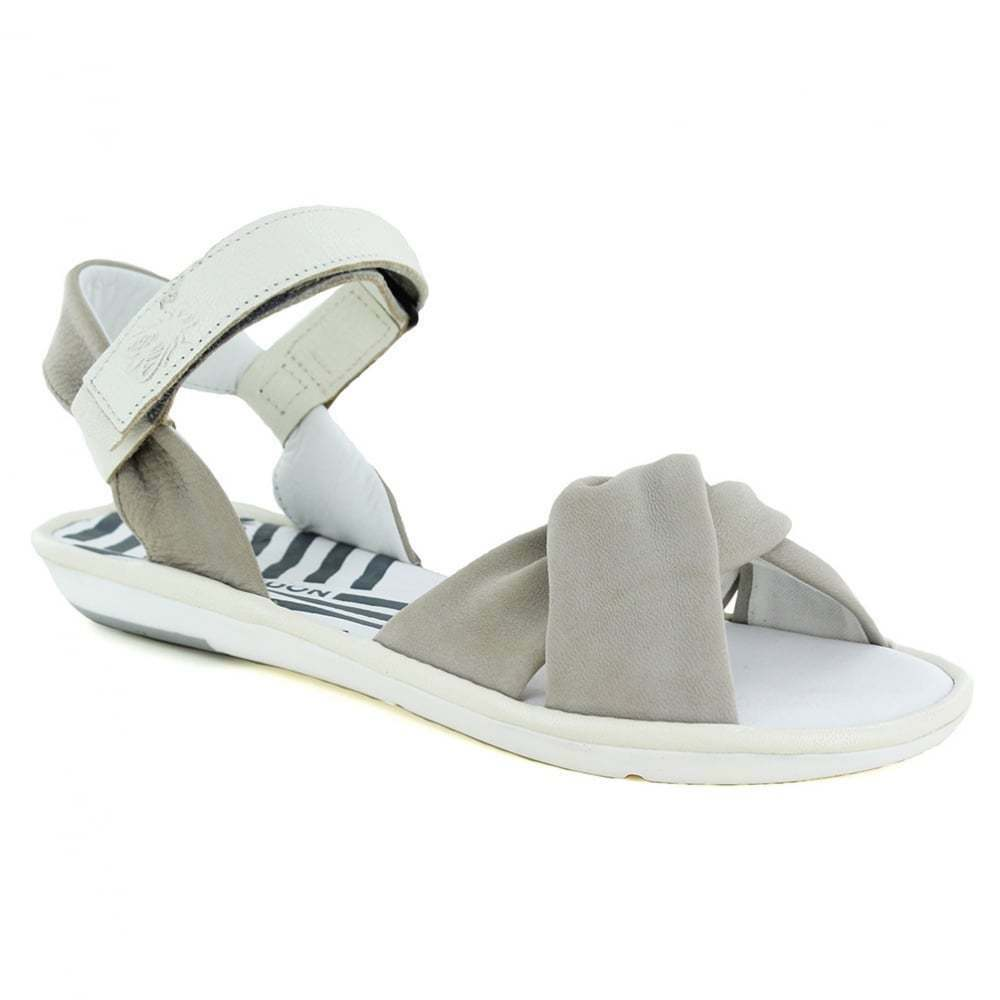 FLY London Longe LINEA bianco DONNA SANDALI IN PELLE-CLOUD bianco LINEA sporco 9228e7