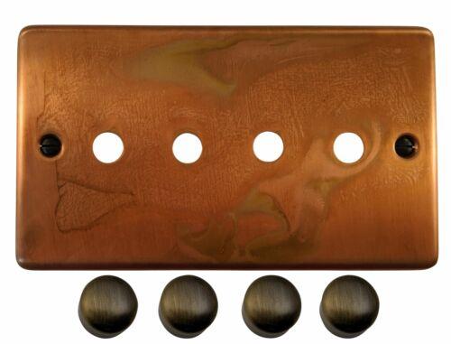 G/&h CTC14-PK Terni Cuivre 4 gang gradateur plaque seulement Inc variateur Boutons