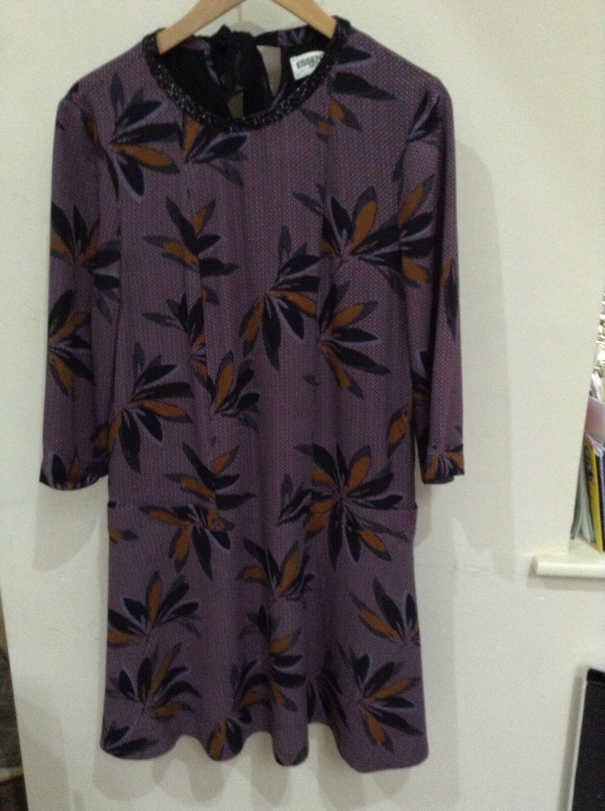 Essentiel antwerp Dress In Purple Print Size 12